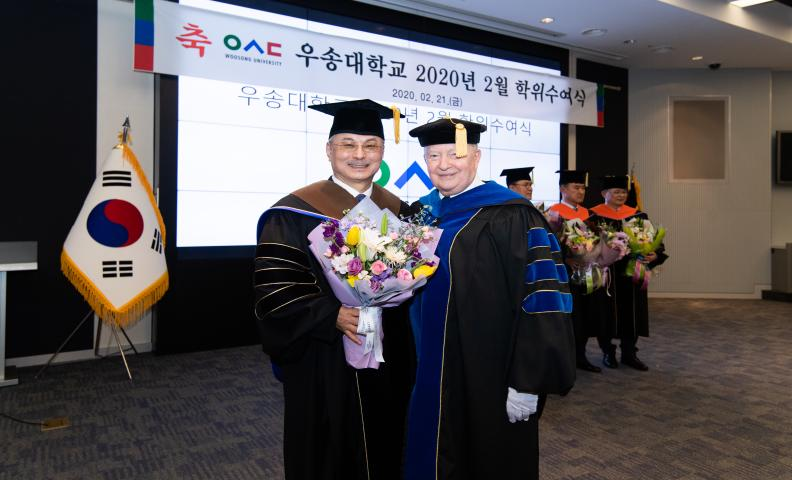 Doctorate Conferment Ceremony in Woosong University